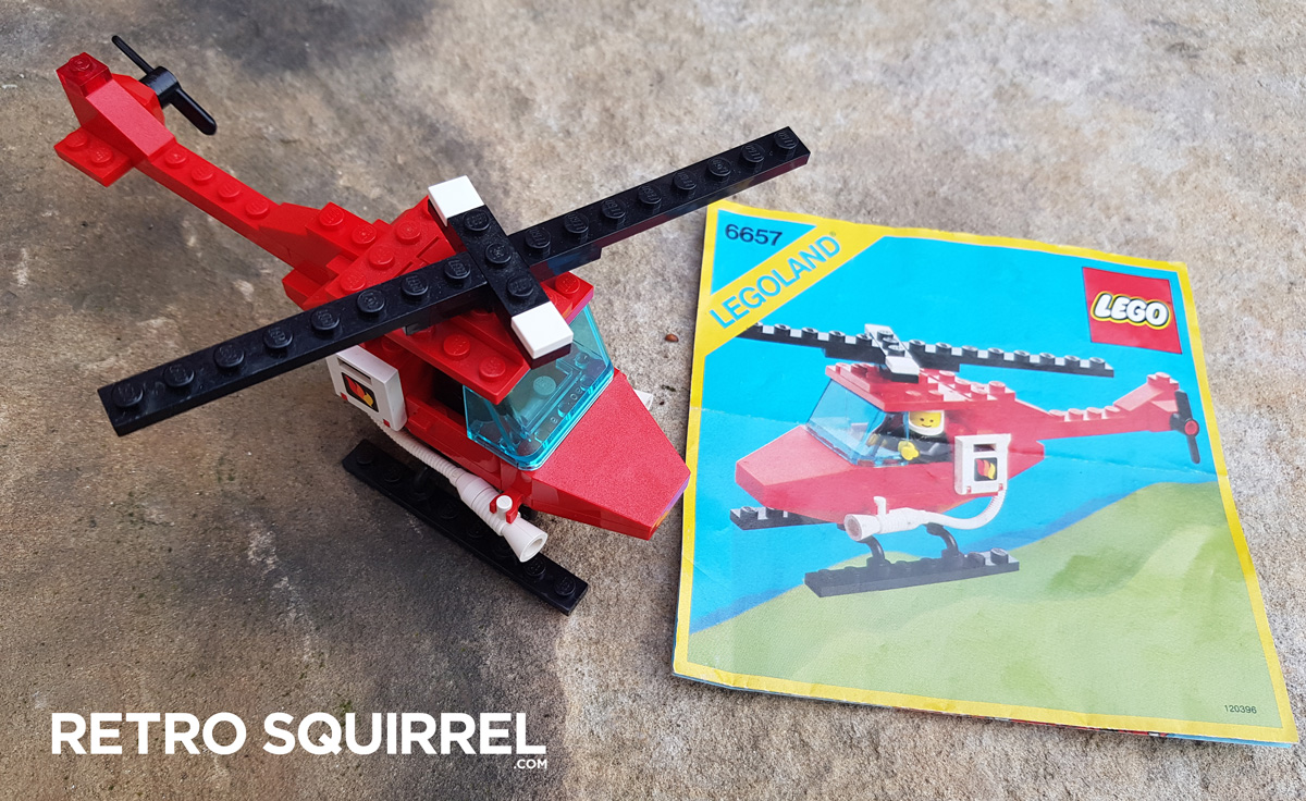1985 Lego Fire Rescue Helicopter 6657